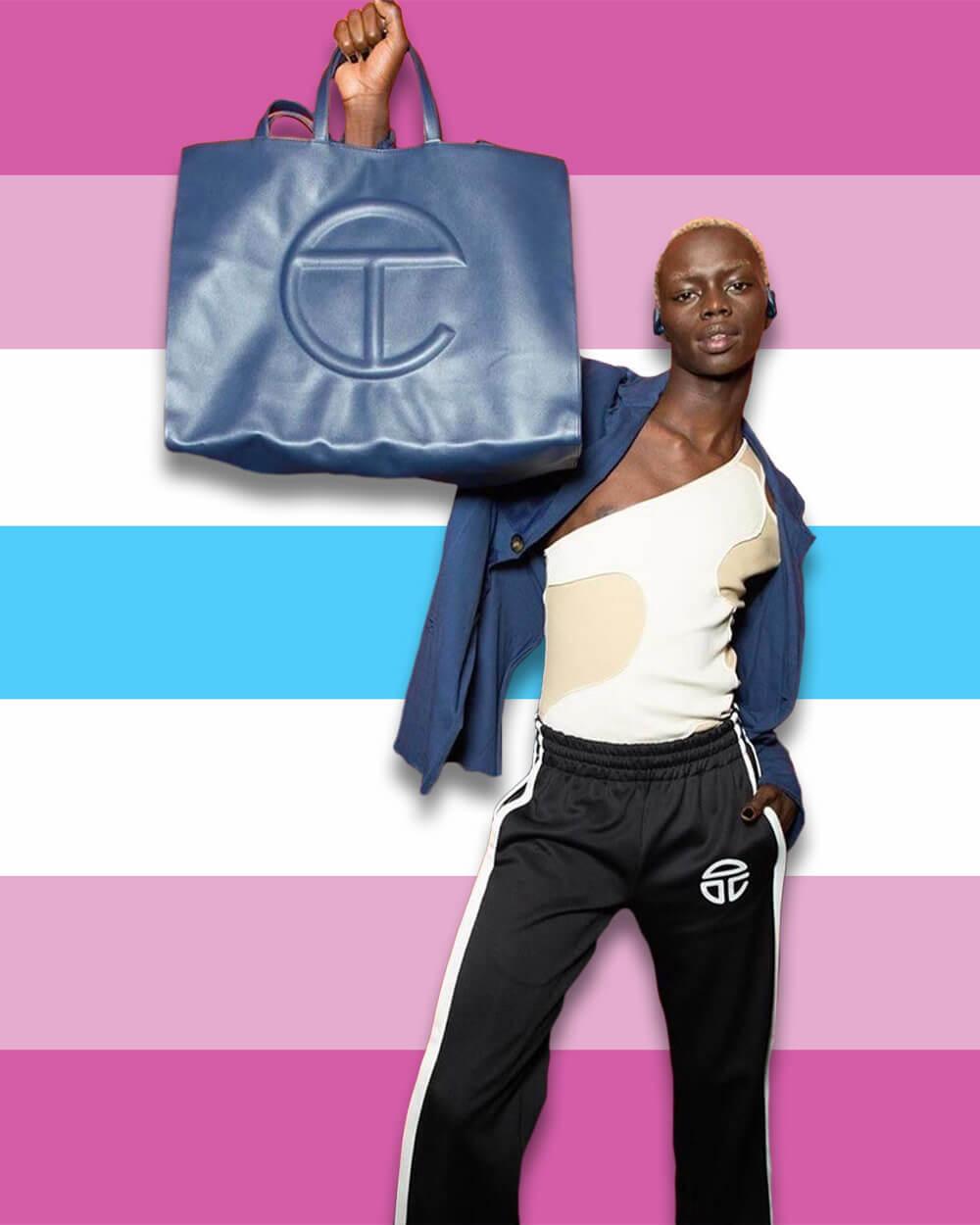 Femboy fashion Telfar shopping bag