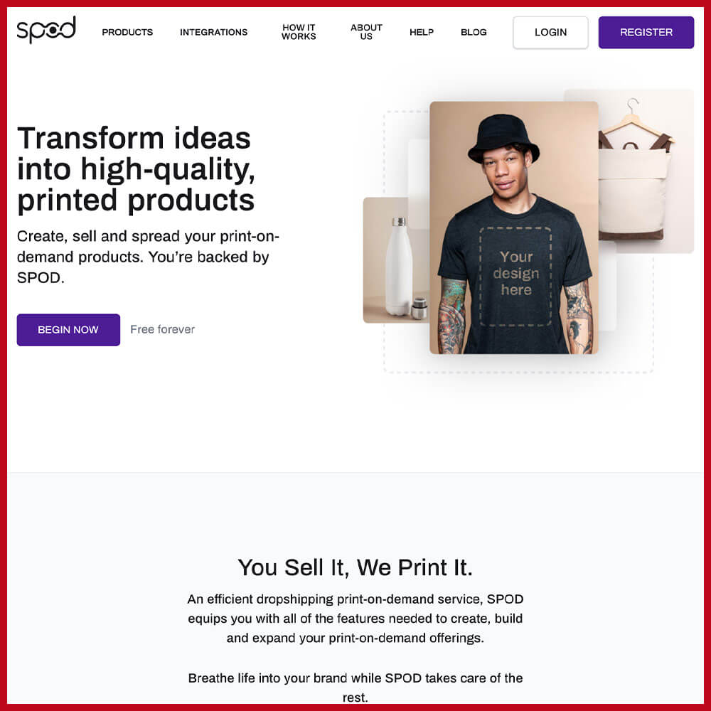 SPOD print on demand