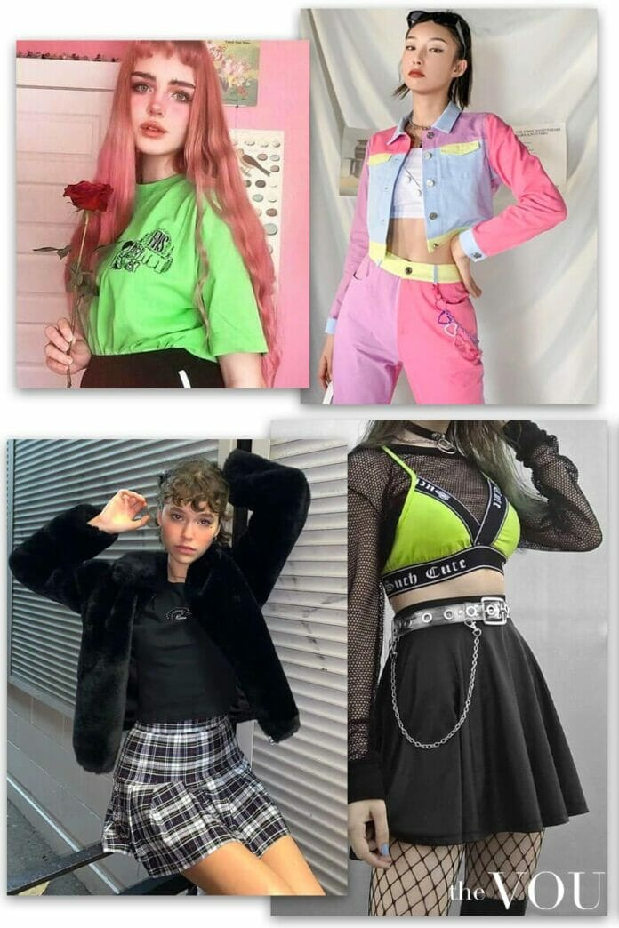 E-girl clothing, outfits, and fashion stores