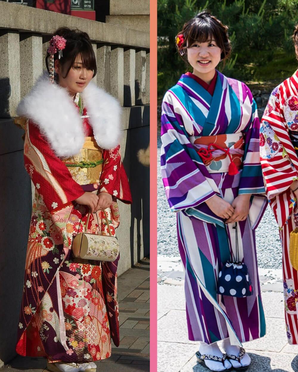 kimono and yukata differences