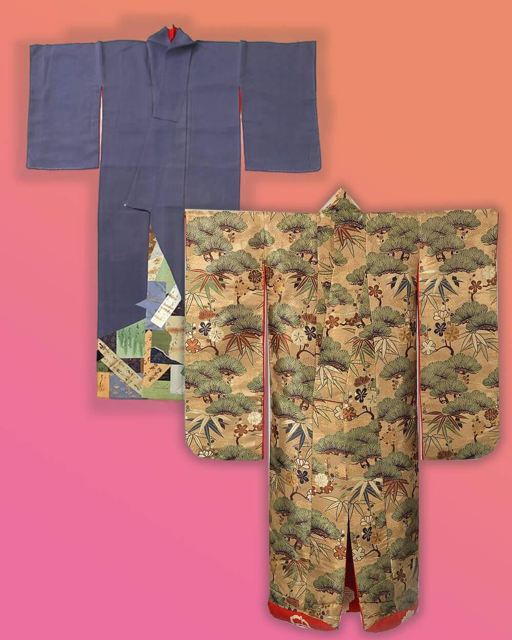 Kimono and yukata sleeve differences
