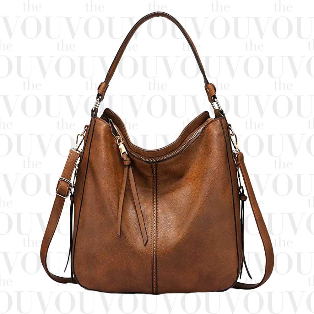 REALER Faux Leather Large Hobo Bag
