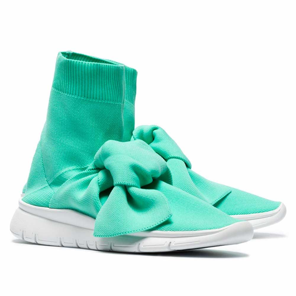 Joshua Sanders Turquoise Knot Sock Sneakers