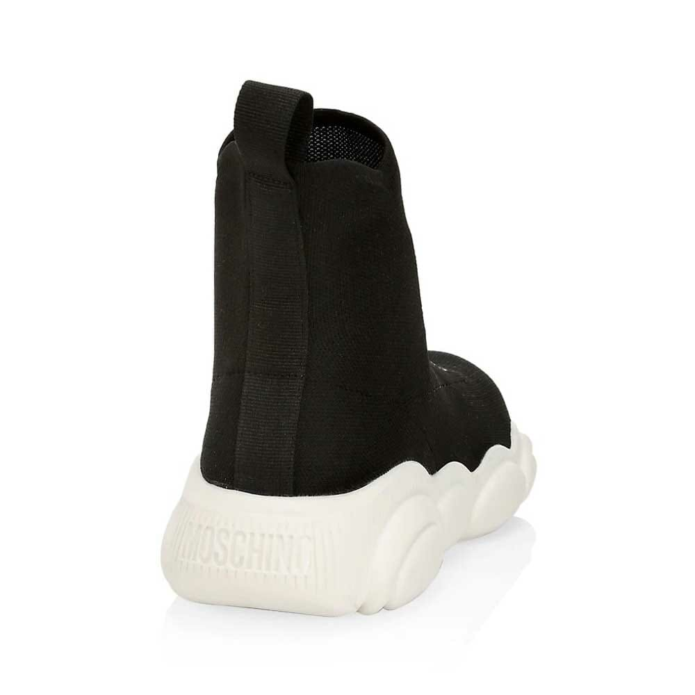 Moschino Logo Knit Sock Sneakers