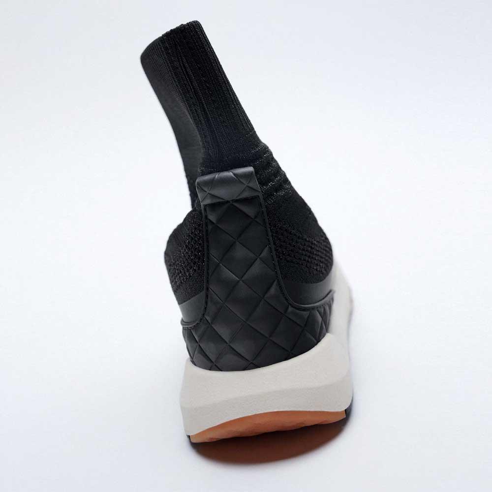 SOCK STYLE HIGH TOP SNEAKERS black