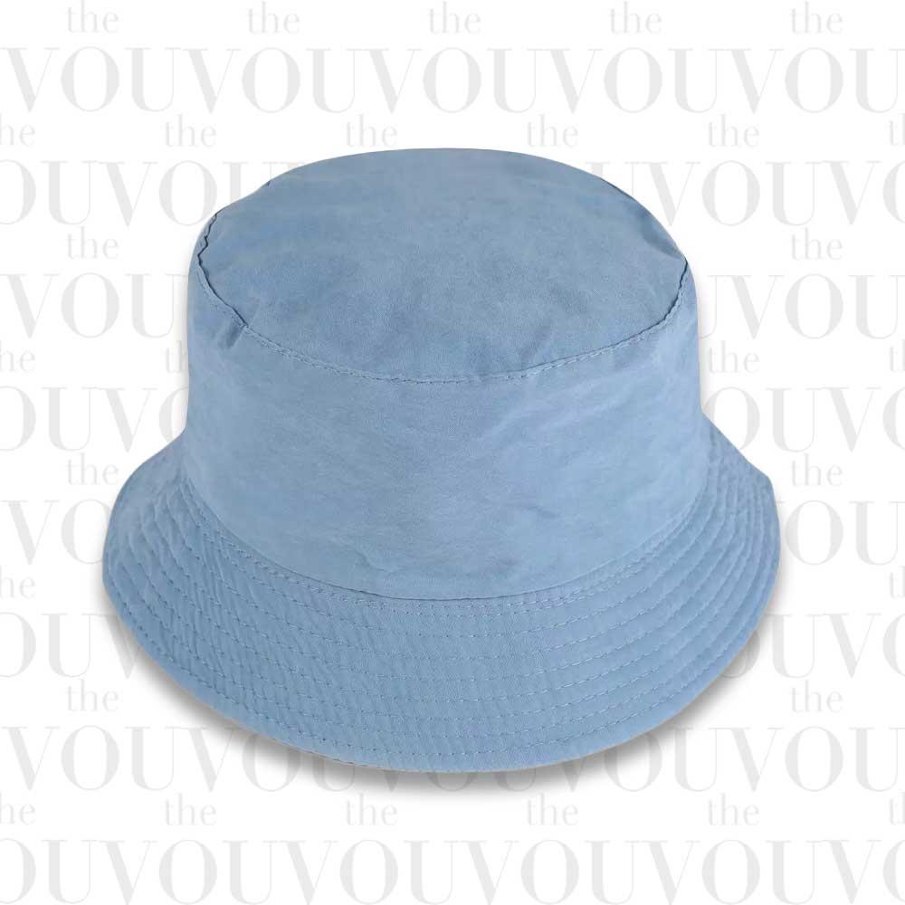 Blue Basic Bucket Hat