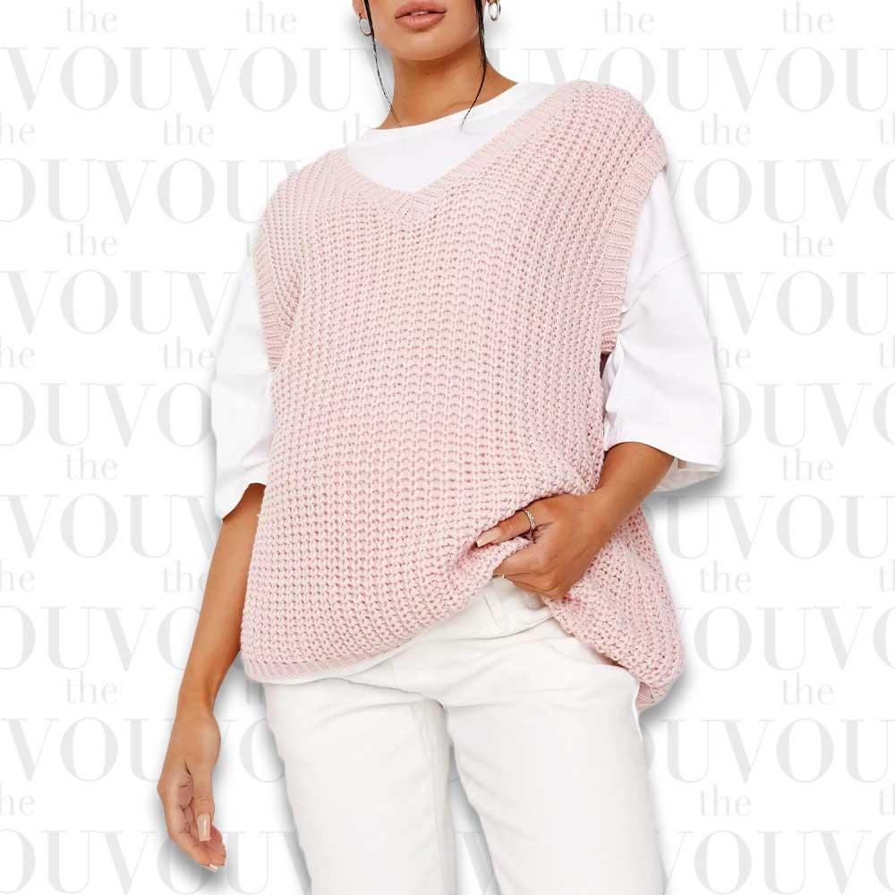 Pink Knit Vest Top