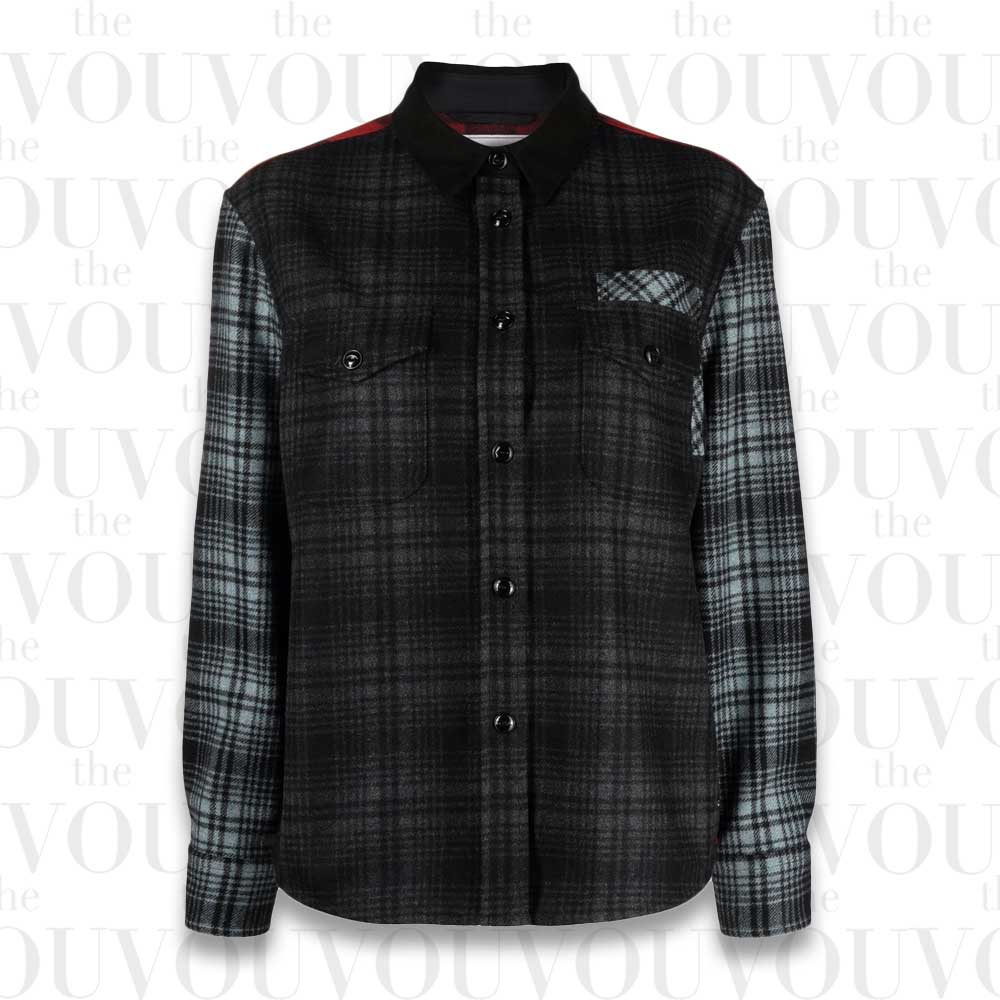 Woolrich Patchwork Check Shacket