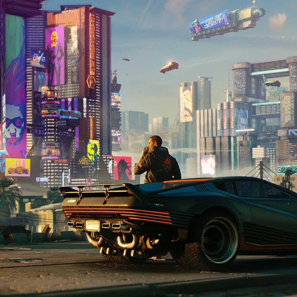 Cyberpunk retro futurism aesthetic