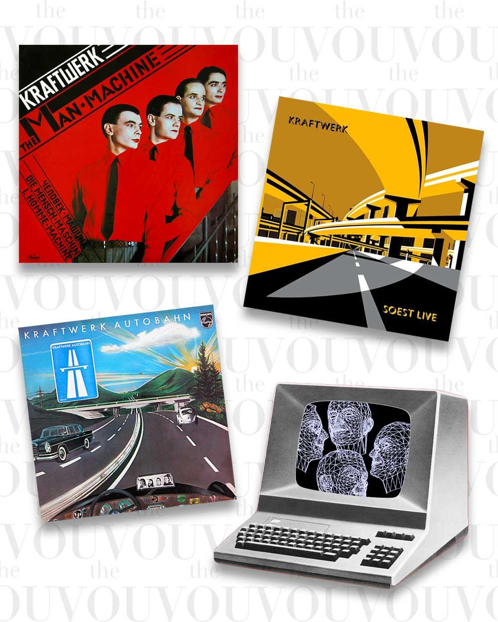 Retro Futurism Aesthetic by Kraftwerk 1970s albums