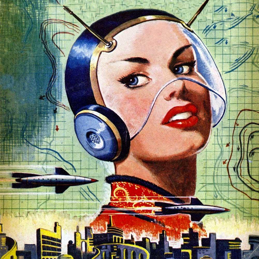 Raygun Gothic retro futurism aesthetic