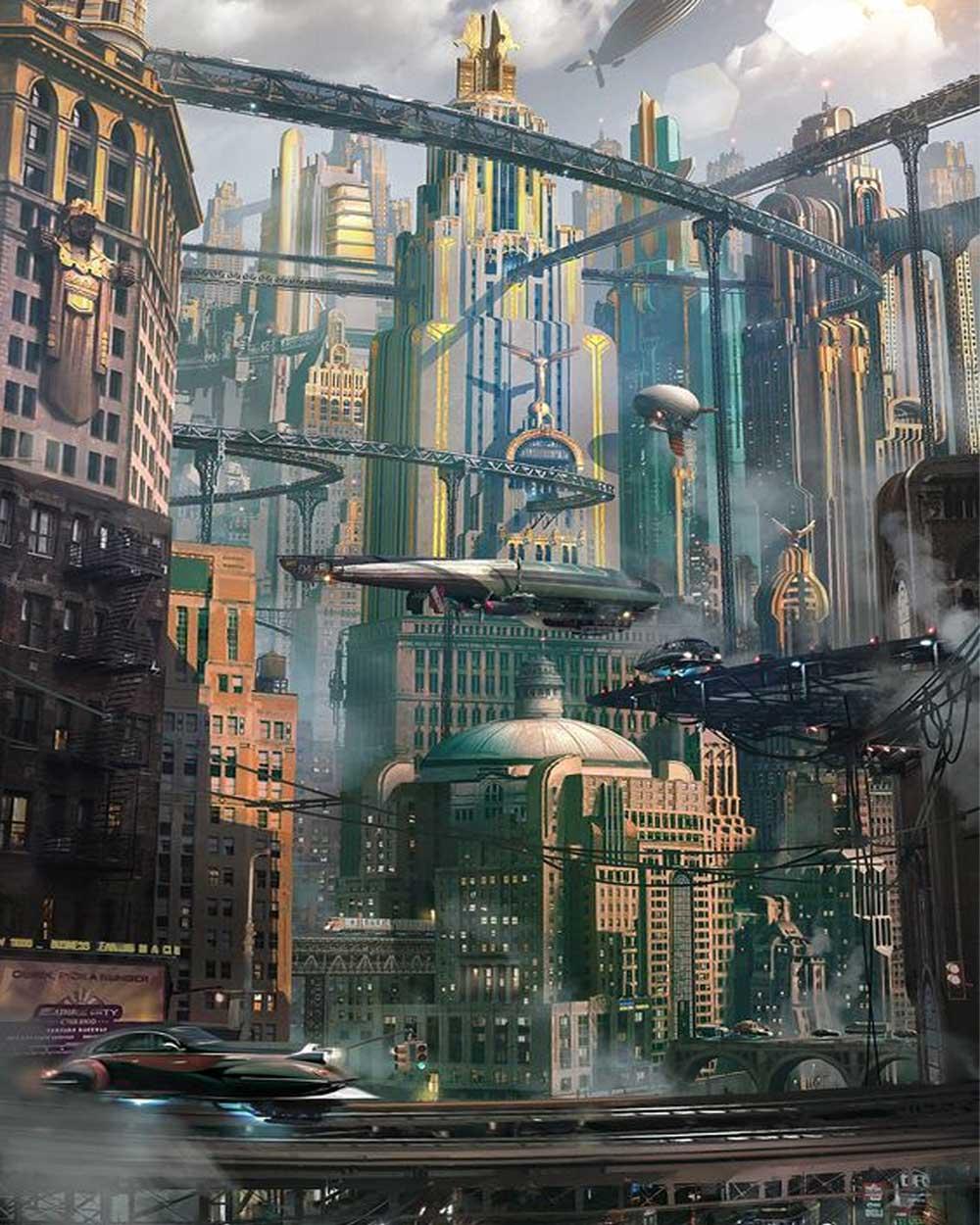 Pre-post apocalyptic retro futurism aesthetic