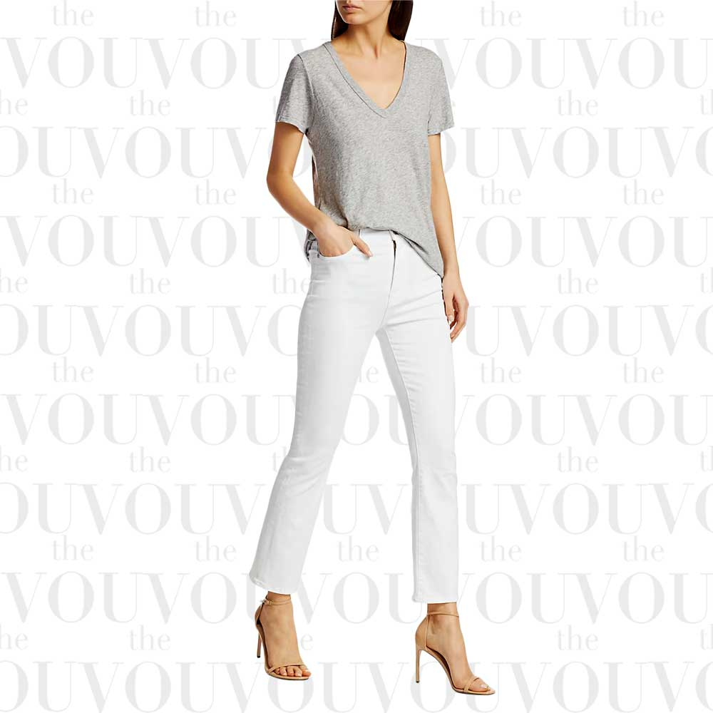 7 for All Mankind high-rise slim kick jeans for women
