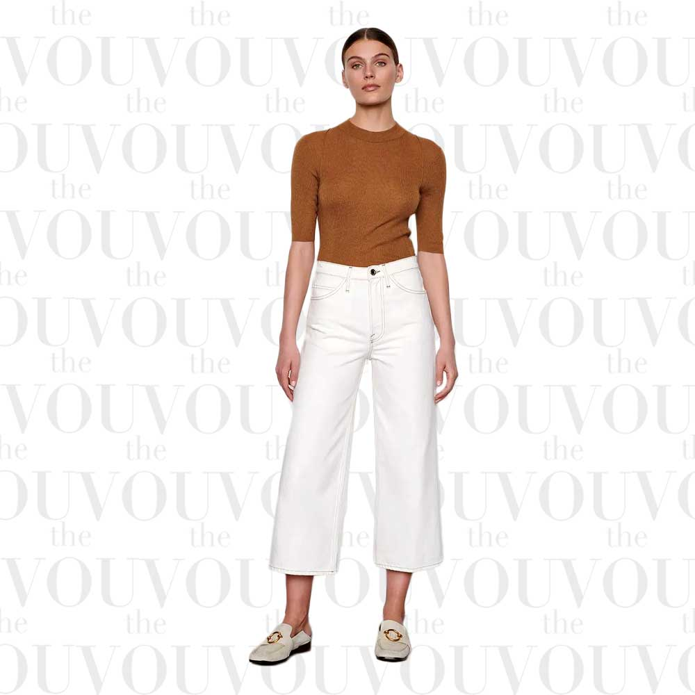Frame Le Italien cropped high-rise wide-leg jeans for women