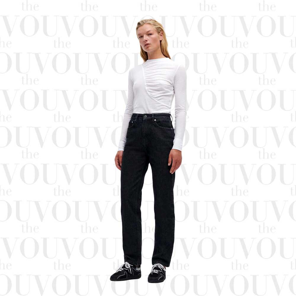 Ganni Black High-Waist Loose Fit Swigy Jeans