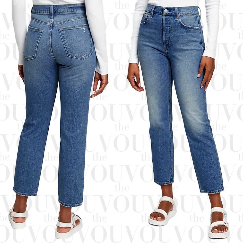 Gap High-Rise Cheeky Straight Jeans