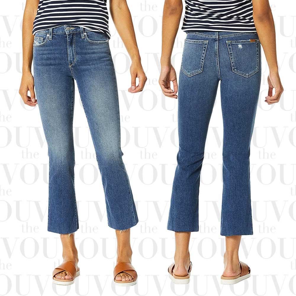 Joes The Callie High-Waist Cutoff Crop Boot-Cut Jeans