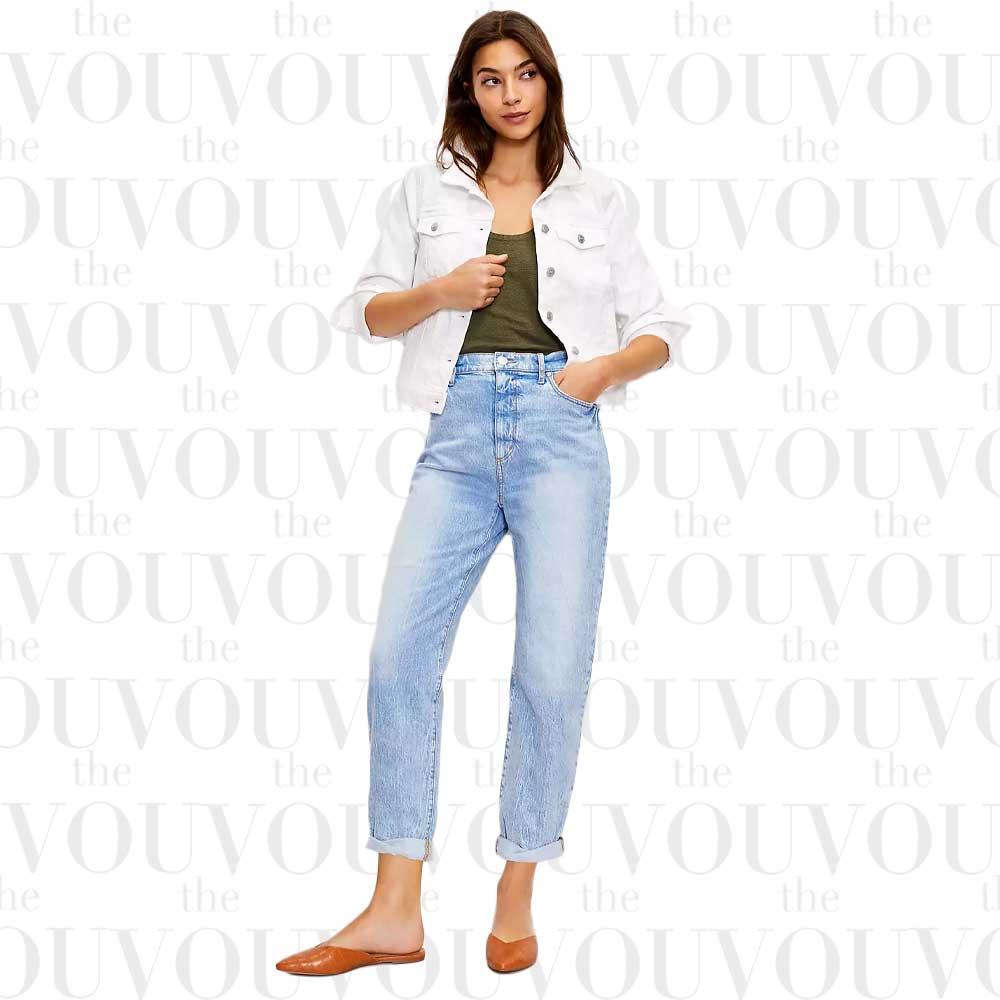 Loft Destructed High Rise Boyfriend Jeans for women
