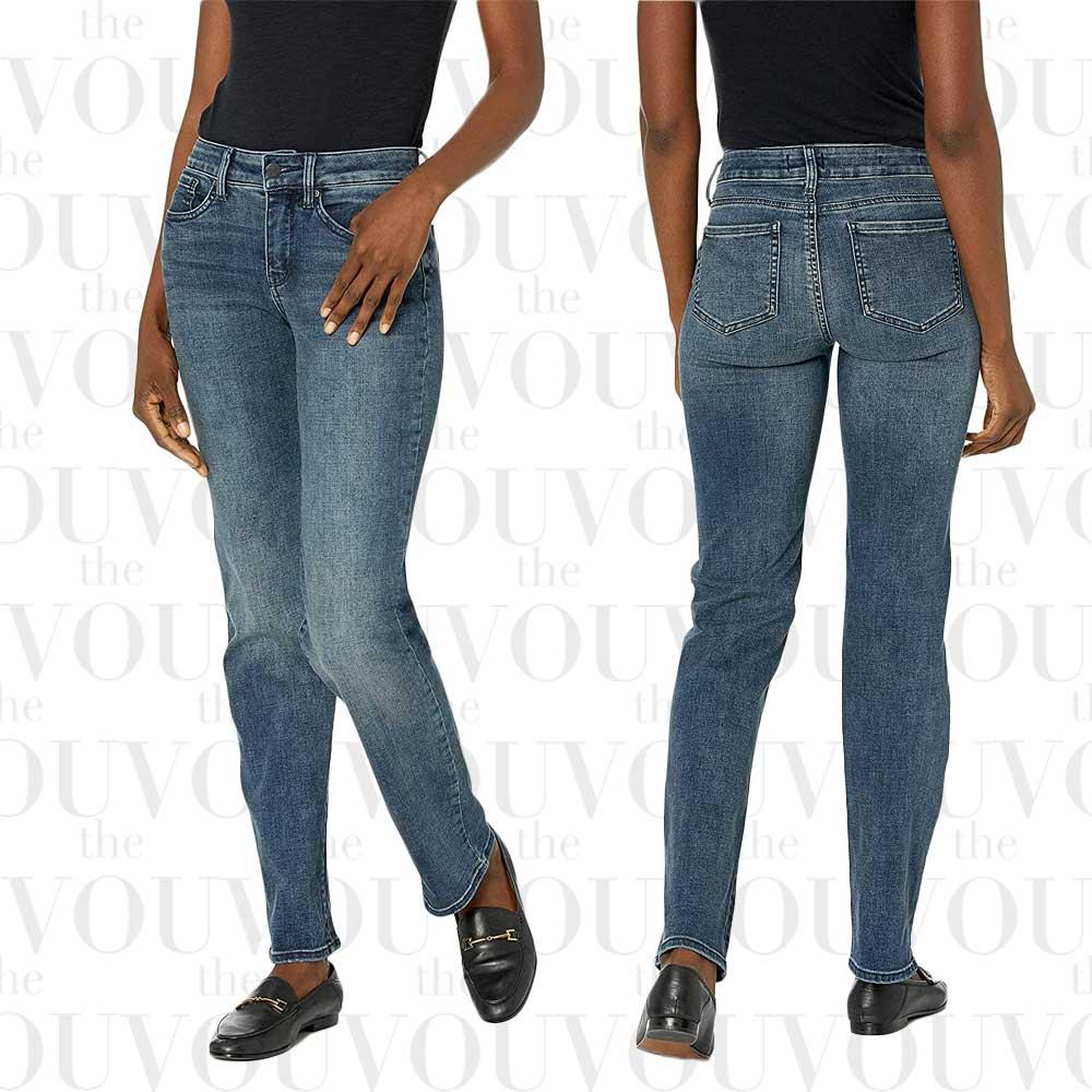 NYDJ Womens Marilyn Straight-Leg Denim Jeans