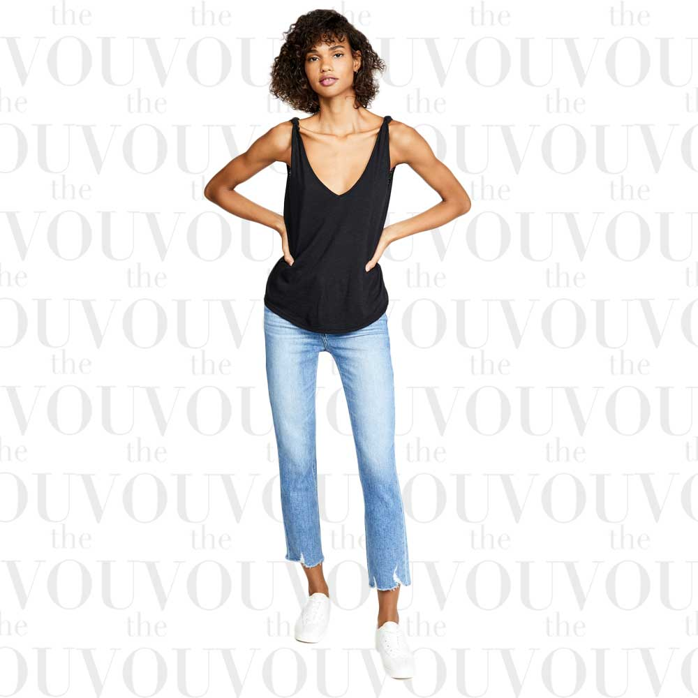 PAIGE Cindy Destroyed Hem Petite Jeans for women