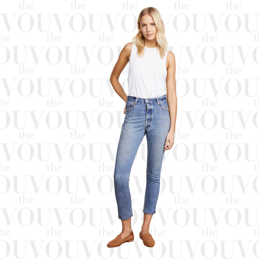 RE/DONE x Levi's High Rise Ankle Crop Jeans for women