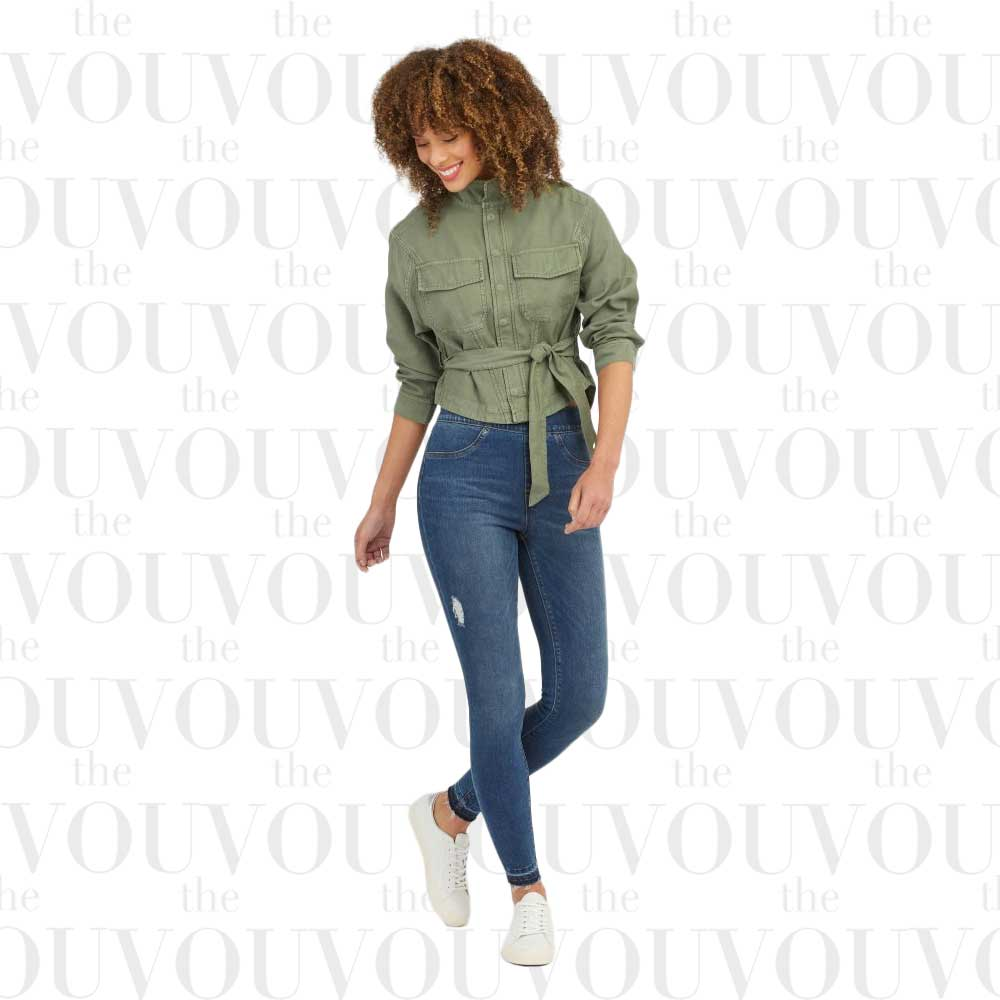 Spanx Distressed Ankle Skinny Jeans for women