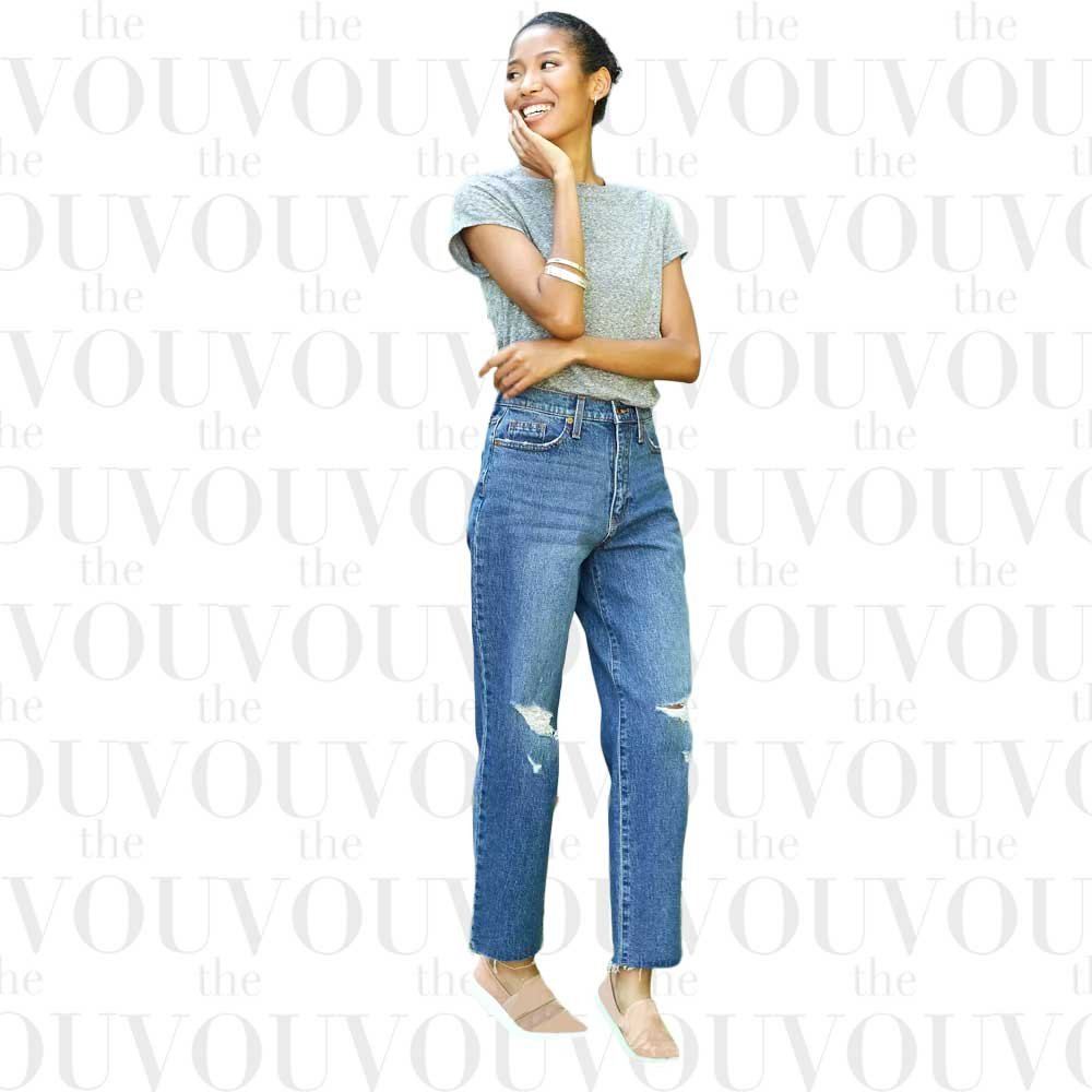 Universal Thread Womens High-Rise Vintage Straight Cropped Jeans