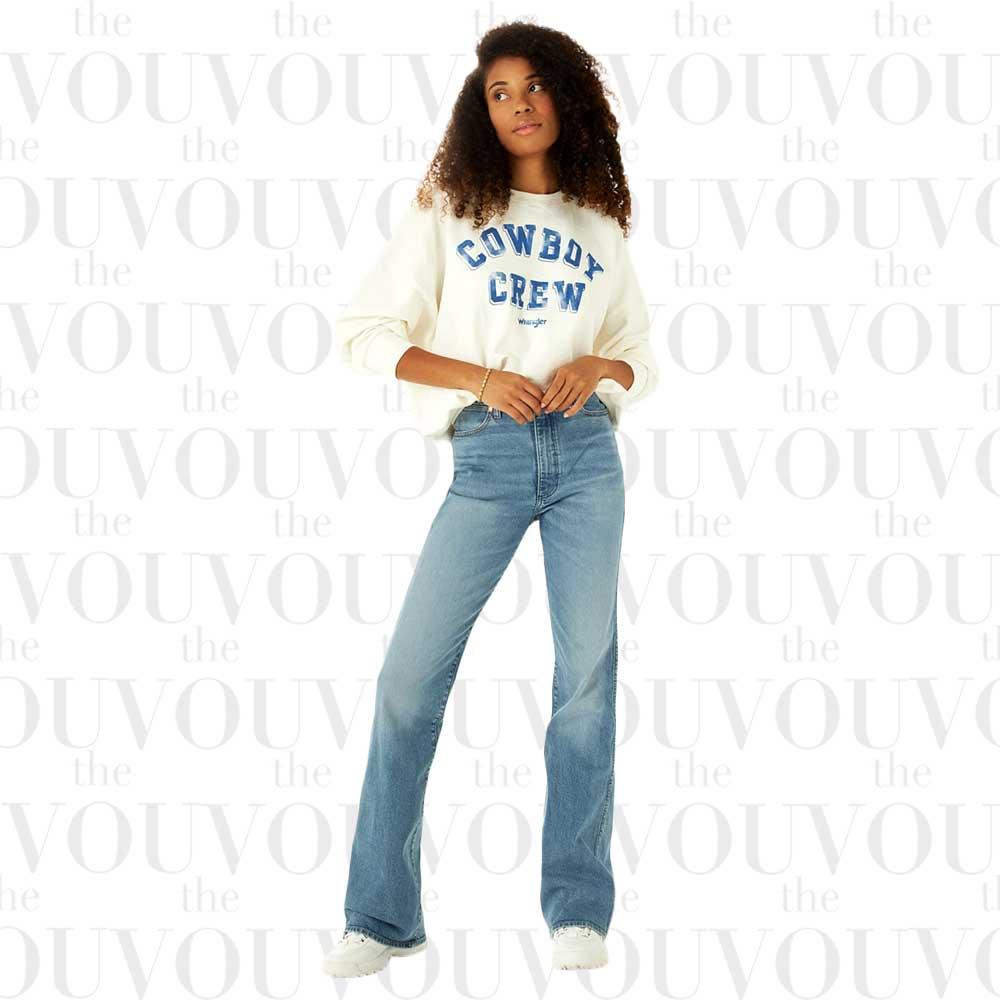 Wrangler Womens Westward 62 High Rise Bootcut Jeans