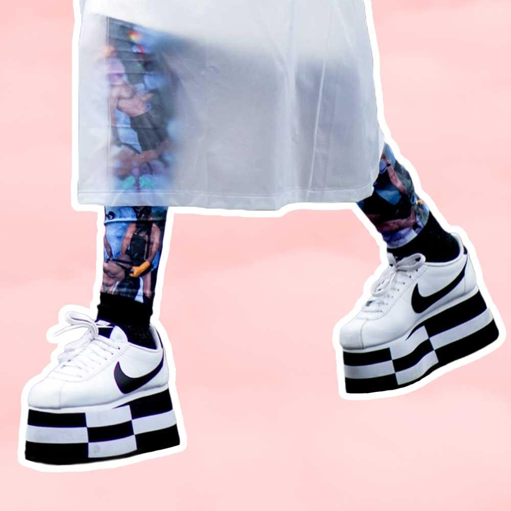 Platform sneakers for women