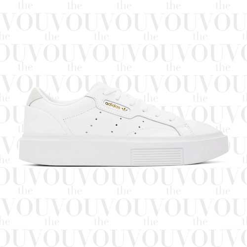 Adidas Originals White Sleek Super Sneakers