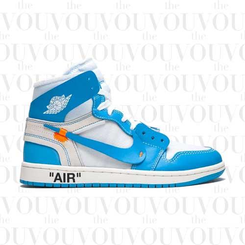 "Nike X Off-White Air Jordan 1 Retro High ""Off-White - UNC"" Sneakers"