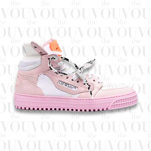 Off-White 3.0 Off Court Leather White Pink Sneakers