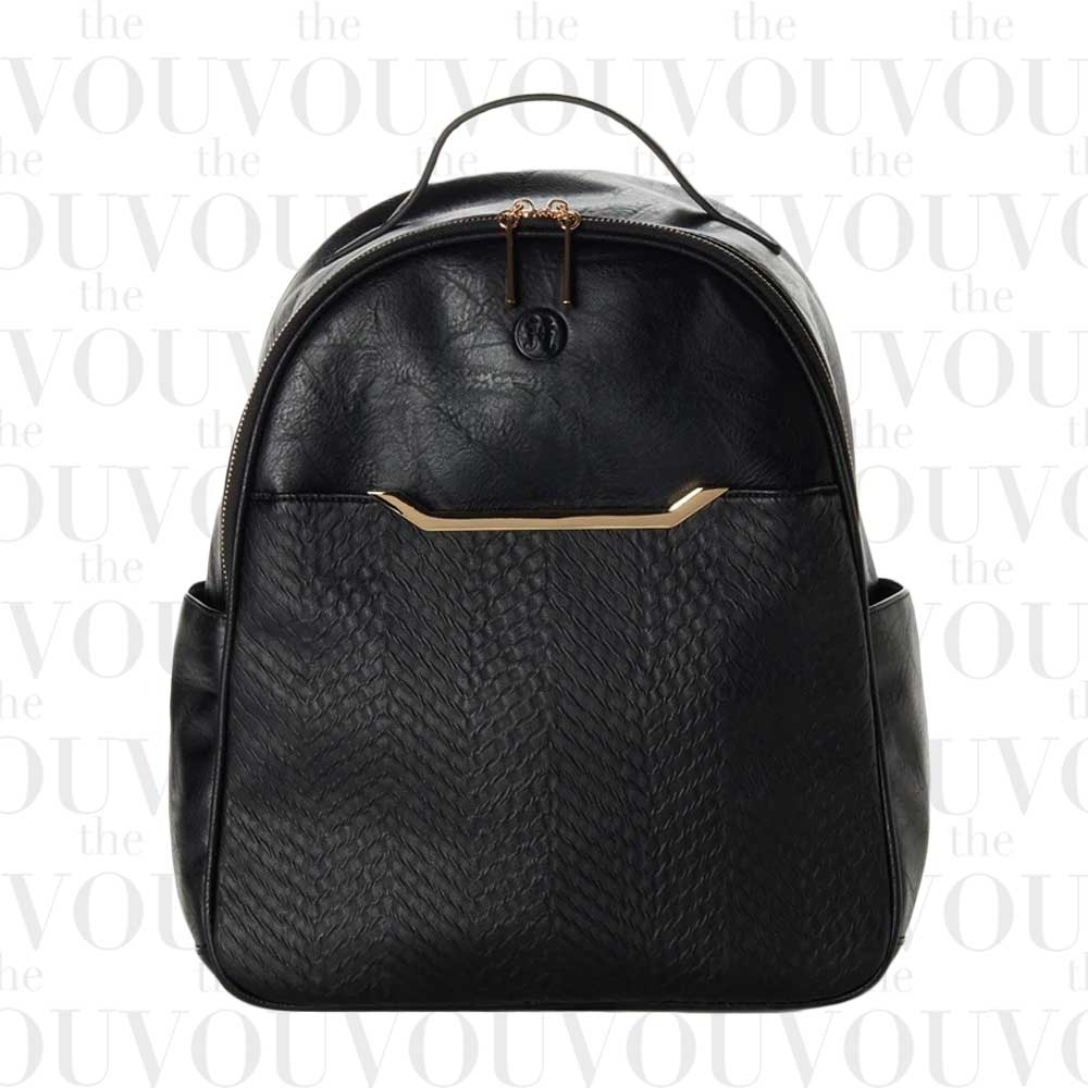JEANE & JAX Autumn Textured Front Backpack