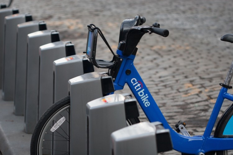 New York City's bike share system, has many sensors embedded in both the docking stations, and the bikes themselves.