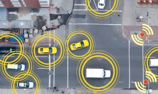 Cars communicating using connected IoT technologies
