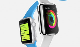 apple watch sport version with blue strap