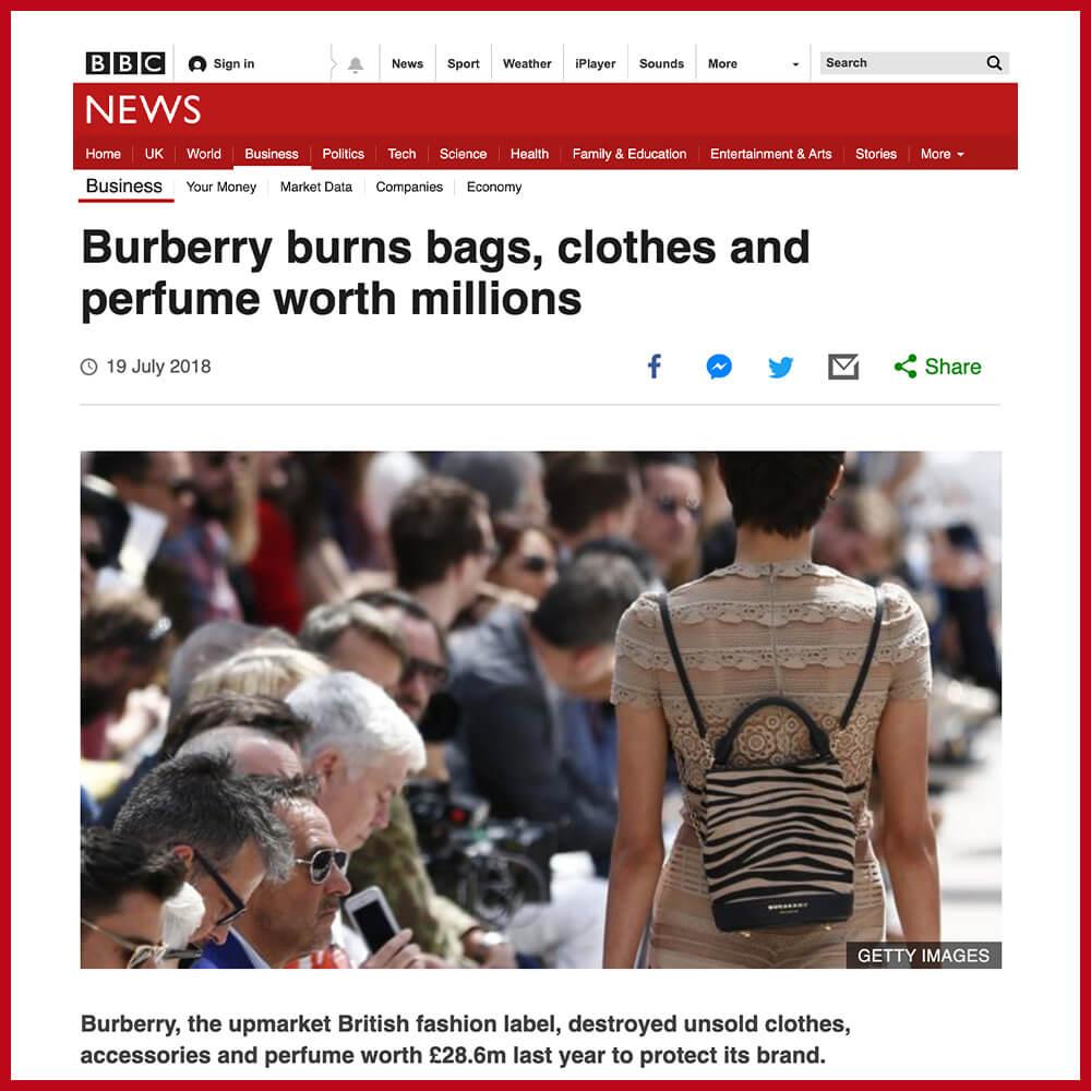 Burberry burning old stock worth millions