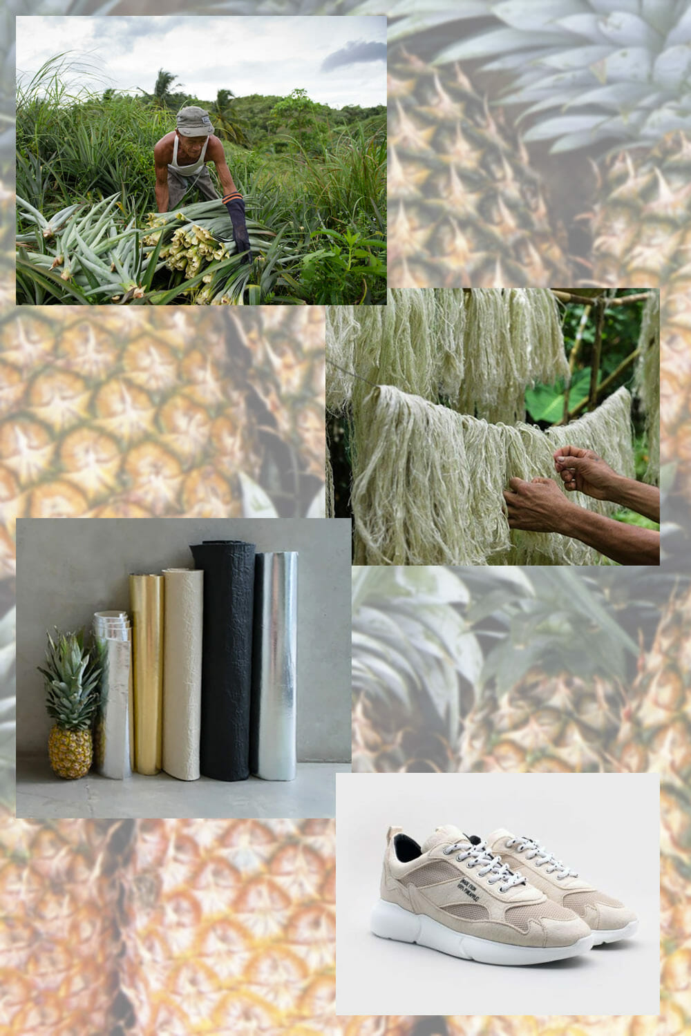 Pineapple leather making process
