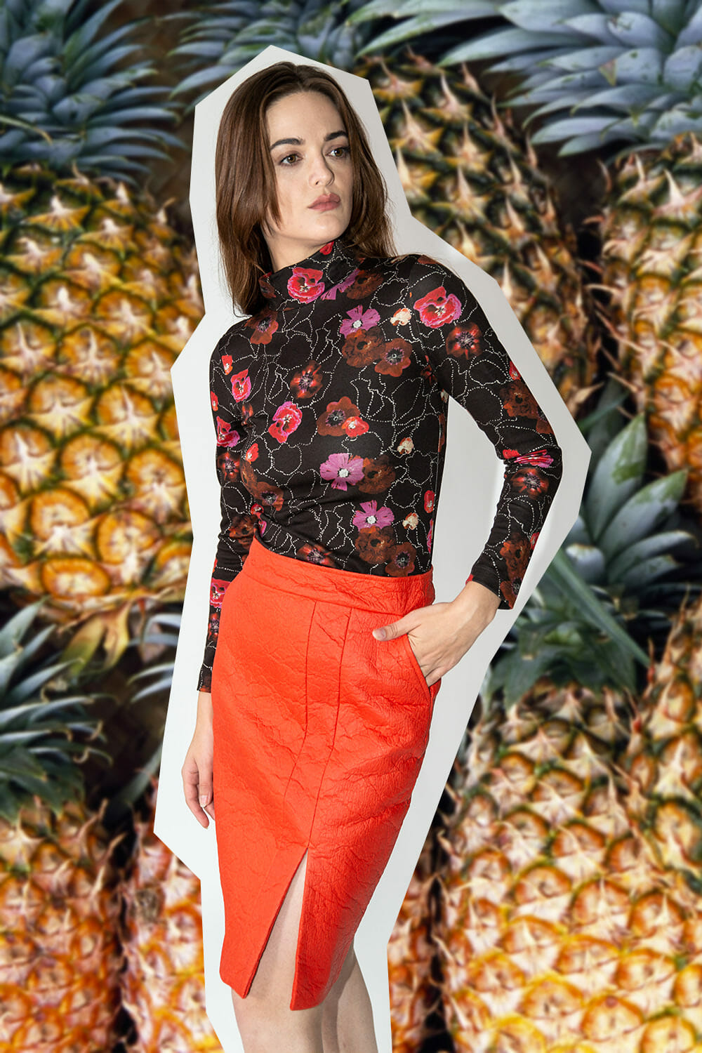 Helder Antwerp eco friendly clothing from Pineapple leather
