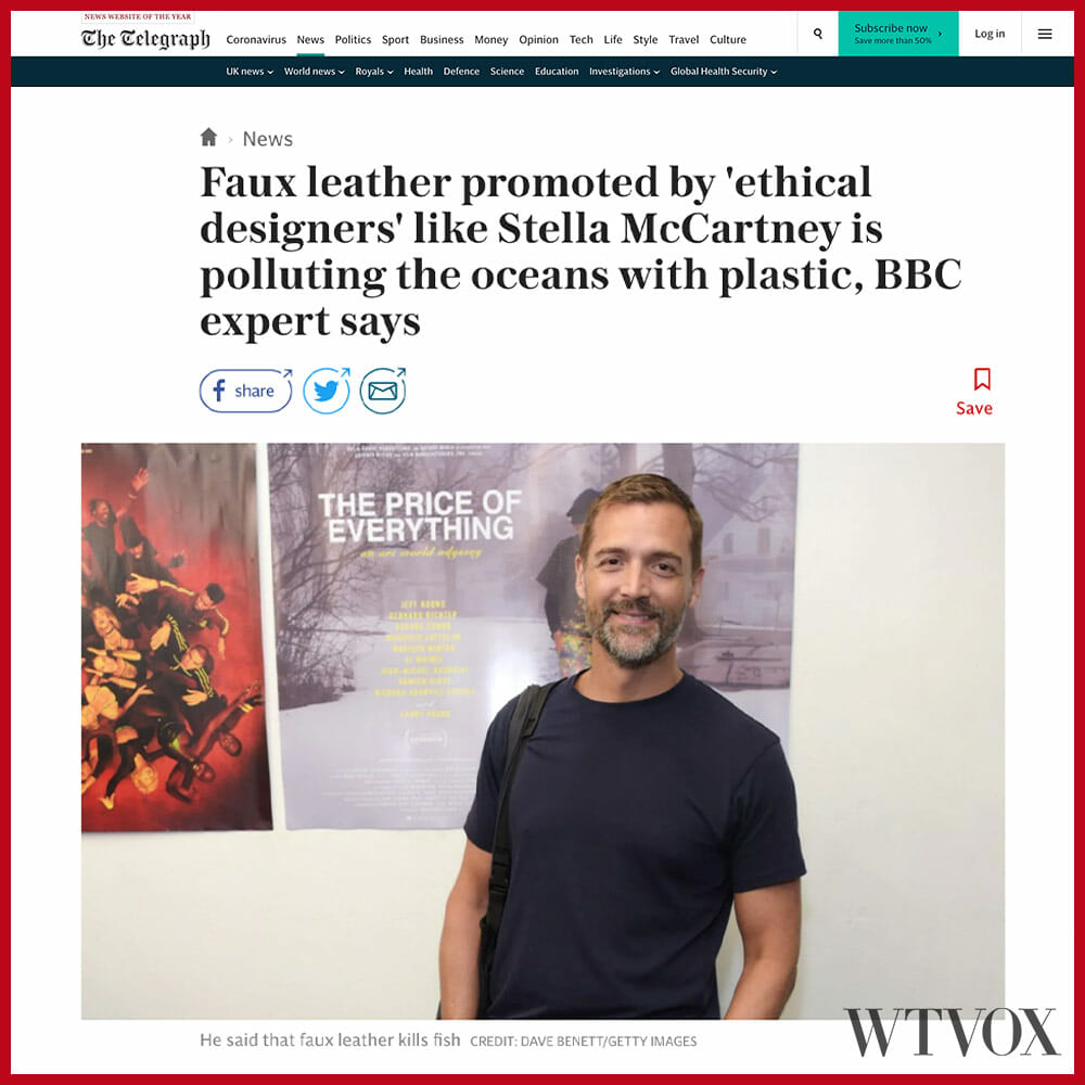 Faux leather is bad for the environment according to BBC expert