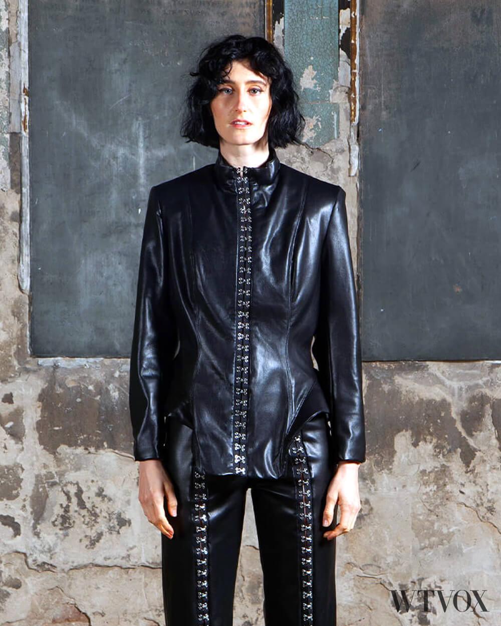 Sarah Regensburger vegan leather jacket