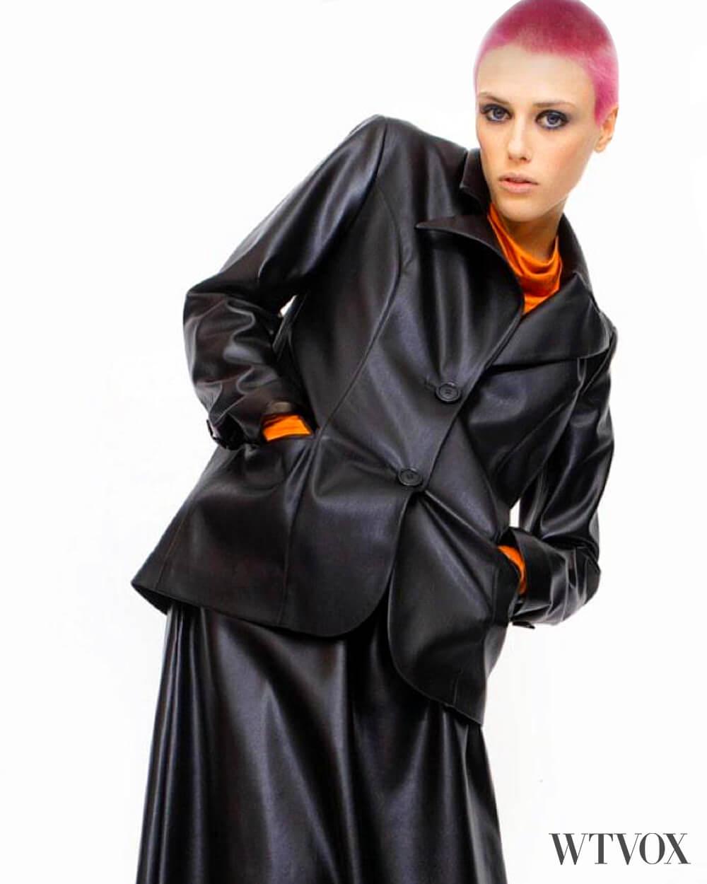 Julia Allert vegan leather jacket