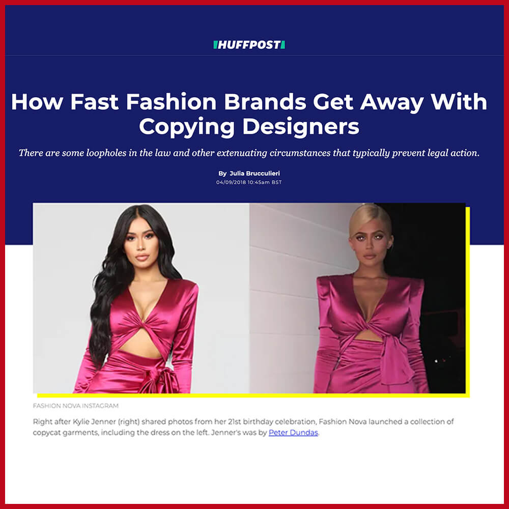 Fast fashion brands copy celebrities with no legal repercussions