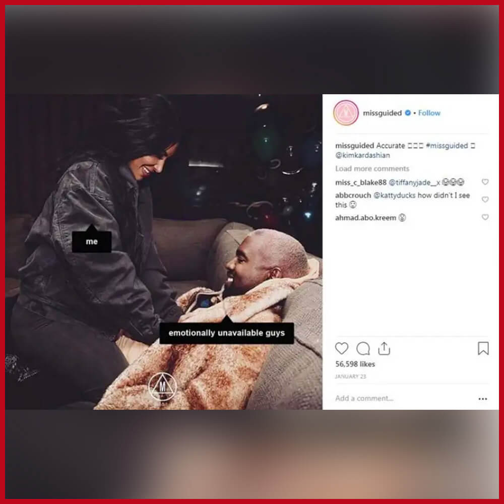 Missguided using Kim Kardashian's image to promote its stolen designer styles