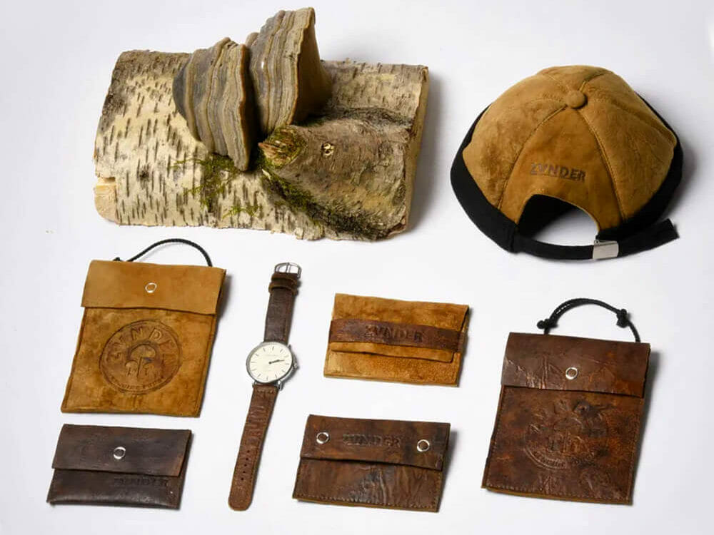 ZVNDER, fashion accessories made from mushroom leather
