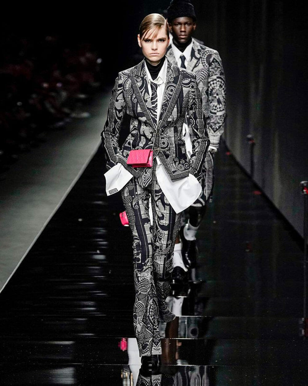 Versace women's and men's collections on the runway together for the first time 2020