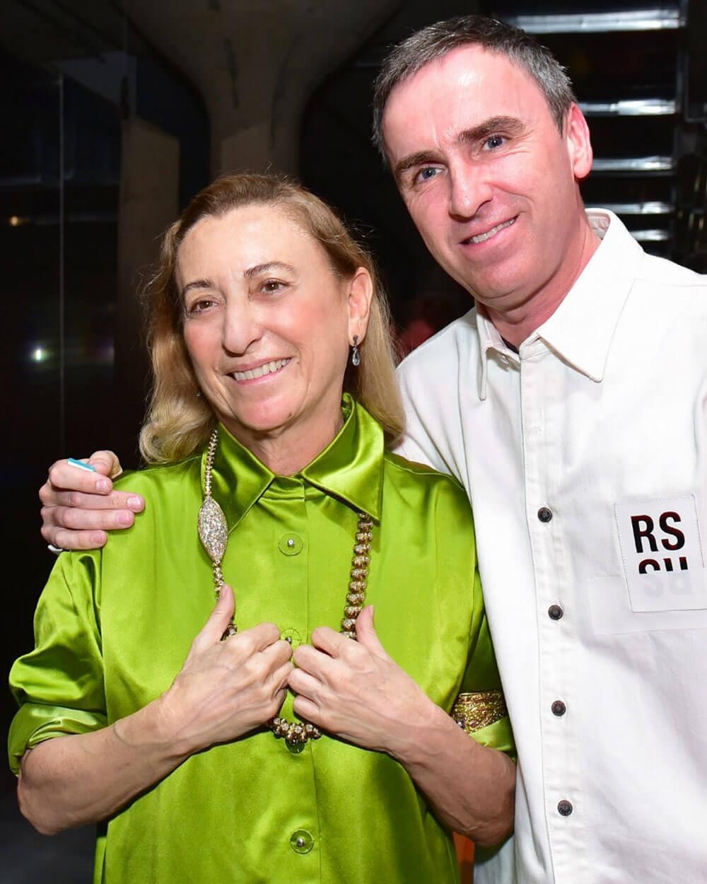 Raf Simons with Prada