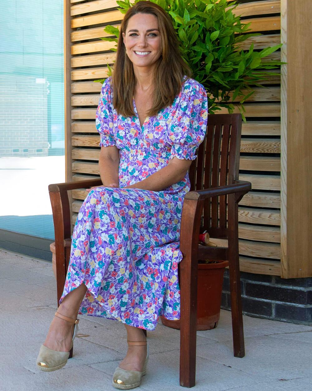Kate Middleton wearing Faithfull the brand boho dress