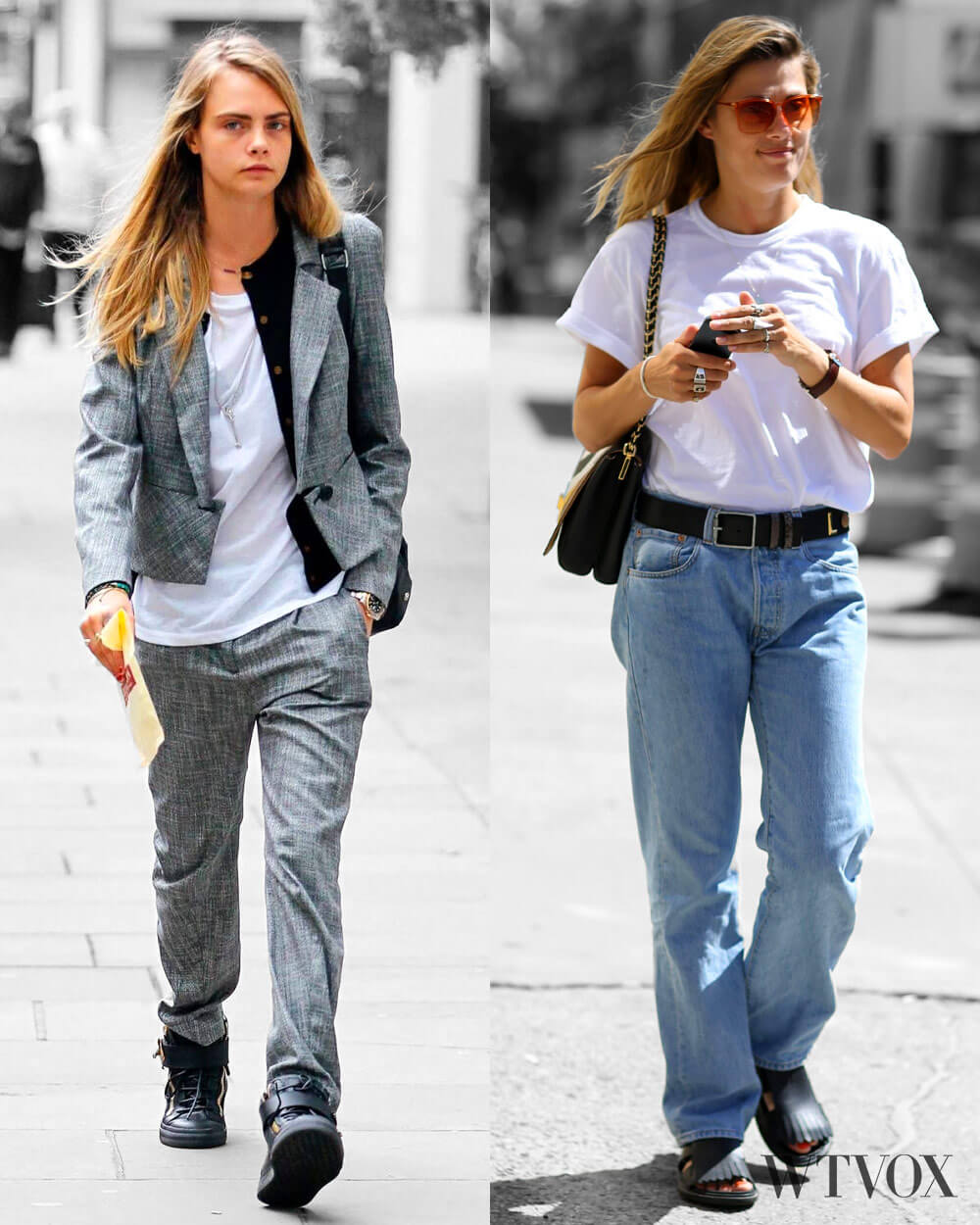 Cara Delevingne and Natalie Hartley in Androgynous Fashion