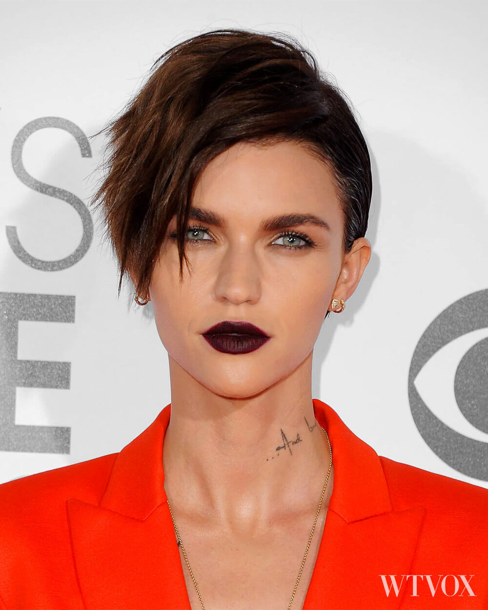 Ruby Rose Androgynous hairstyle